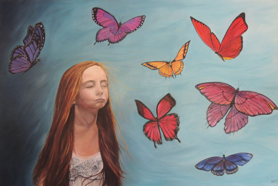 Escaping Reality - Painting by Cara Baird