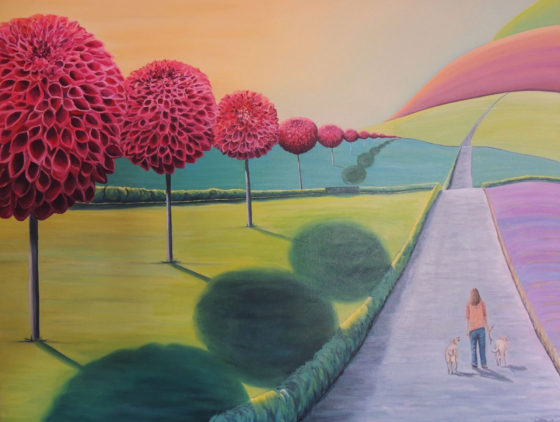 From here to there and there to here - painting by Cara Baird