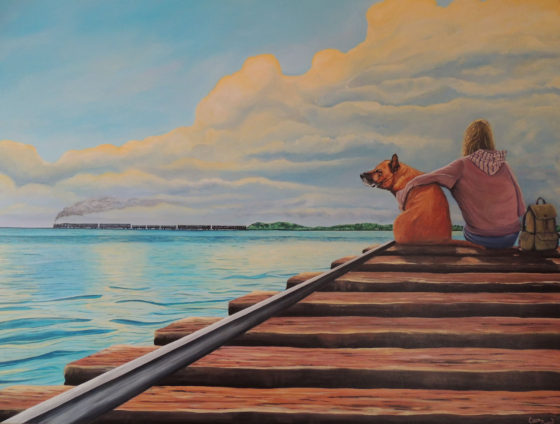 We Have All Day - Painting by Cara Baird